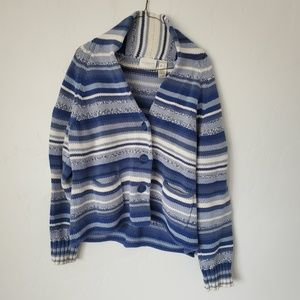 Dress Barn - Striped Blue and White Sweater